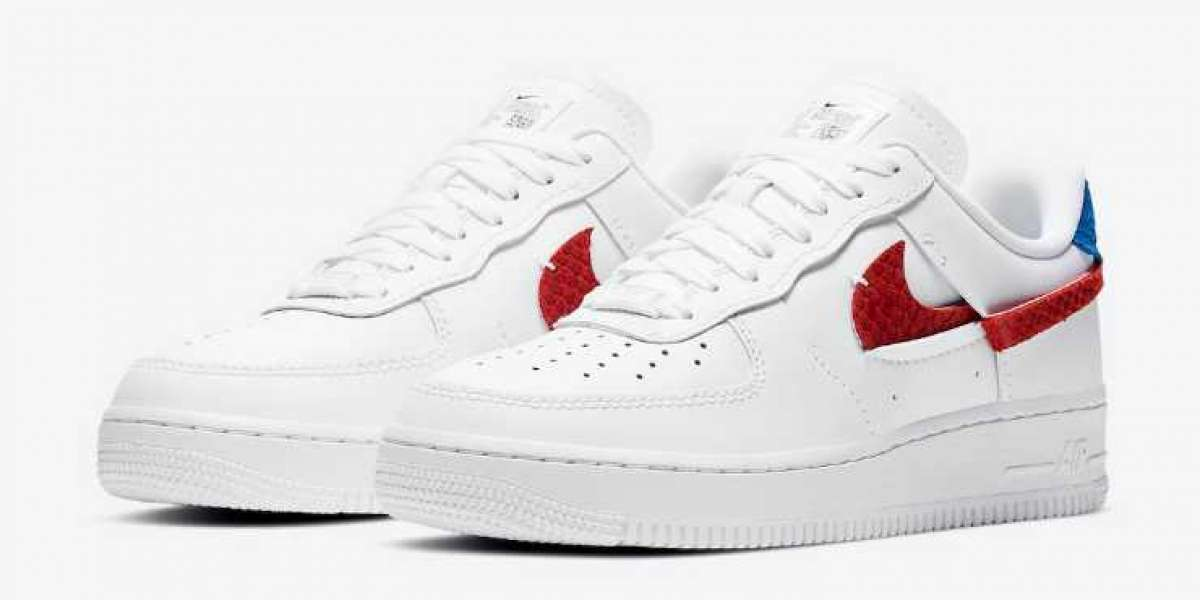 New Nike Air Force 1 LXX White Red Blue Snakeskin Coming Soon