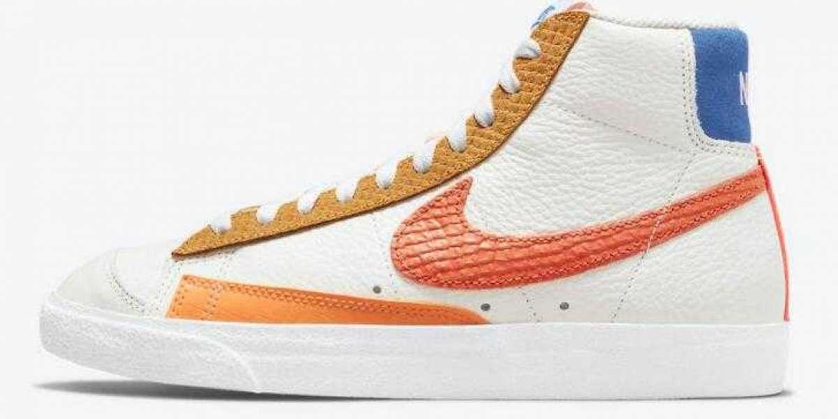 "Nike Blazer Mid '77 ""Campfire Orange"" Coming With Snakeskin Print"