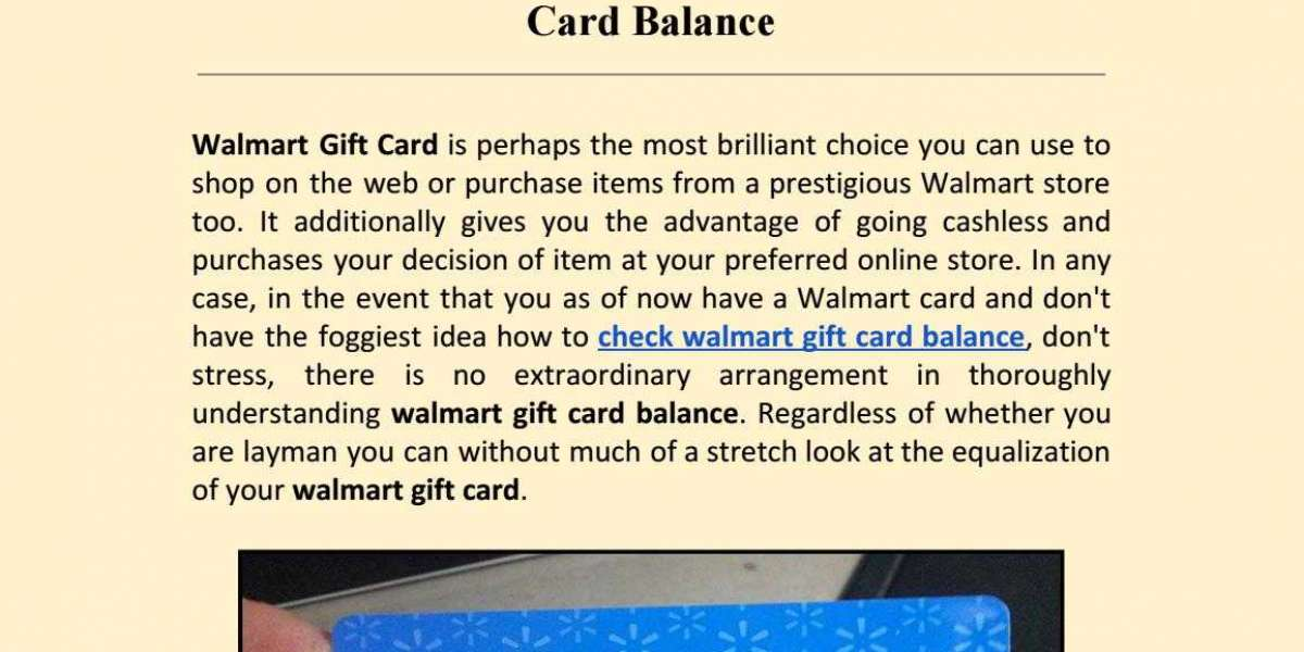 GUIDE TO CHECKING THE BALANCE ON YOUR WALMART GIFT CARD